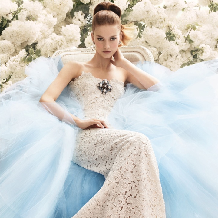 Oscar-de-la-Renta-something-blue-wedding-dress