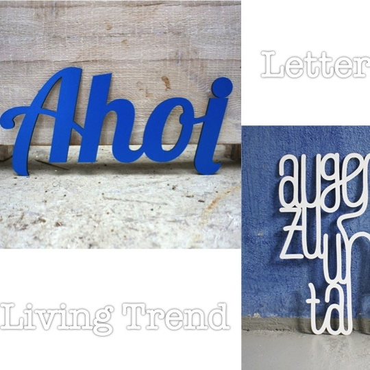 Buchstaben-Deko-Trend-Living Dekoration