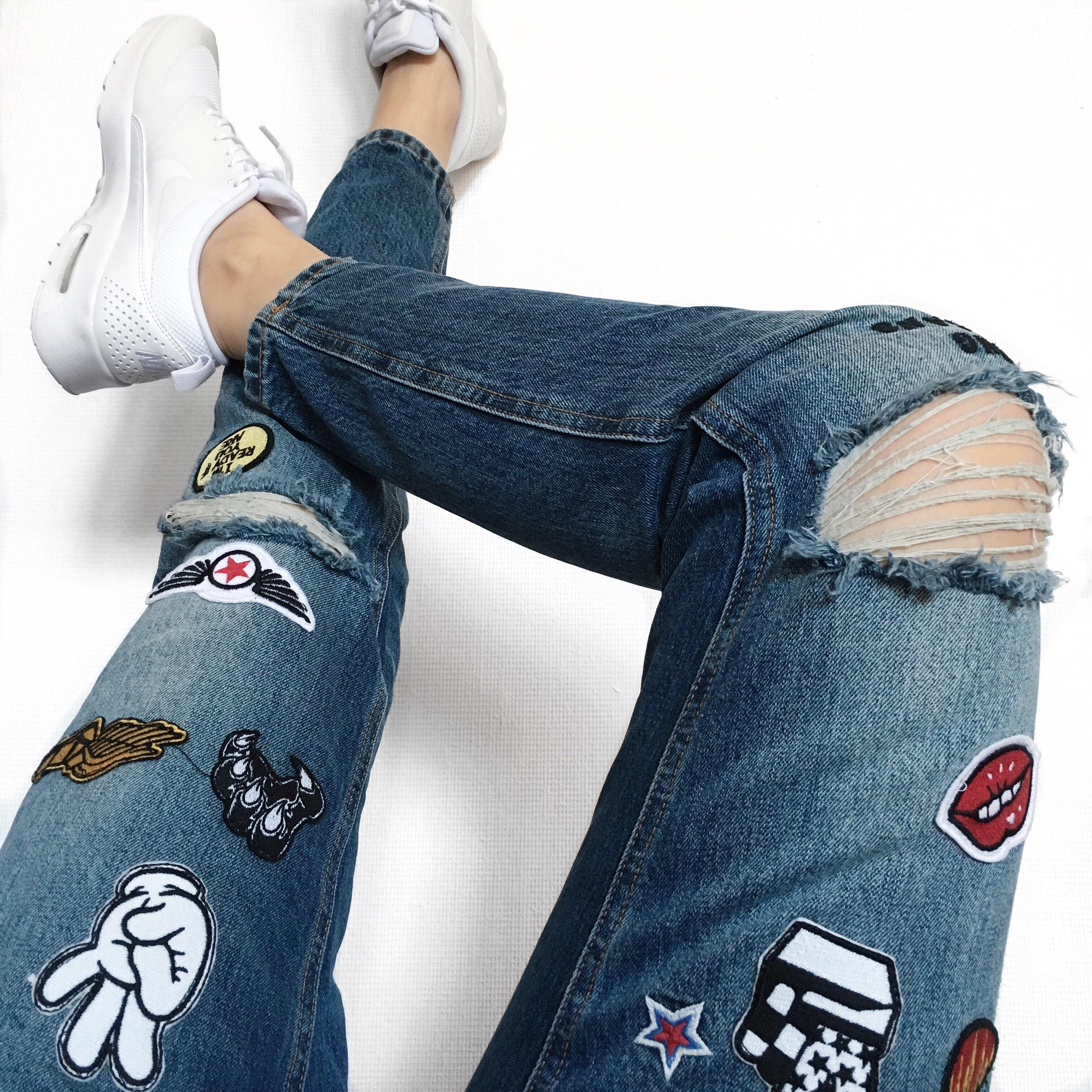 suelovesnyc warum ihr jetzt unbedingt eine patch jeans braucht suelovesnyc. Black Bedroom Furniture Sets. Home Design Ideas