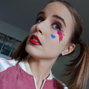 harley Quinn make-up tutorial für halloween suelovesnyc_susan_fengler_harley_quinn_make_up_tutorial_halloween_makeup